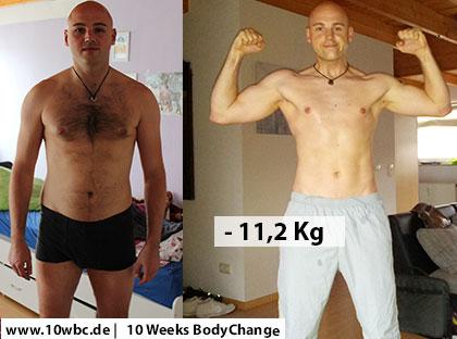 10 Week Body Chance vorher und nachher Michael