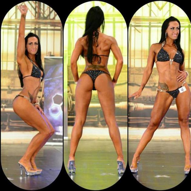Melanie Roller drei verschiedene posen