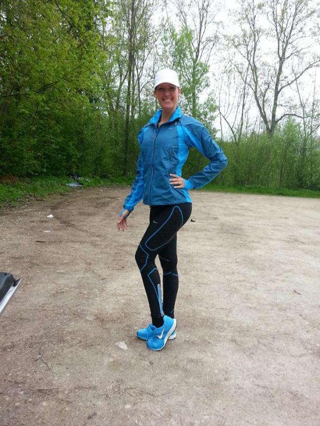 Nathalie Pektemiz  hält sich fit