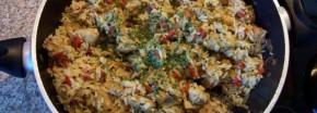 Reispfanne mit Pute