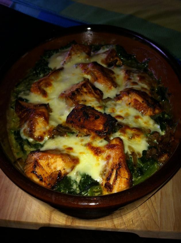 Spinat und Mozzarella Auflauf